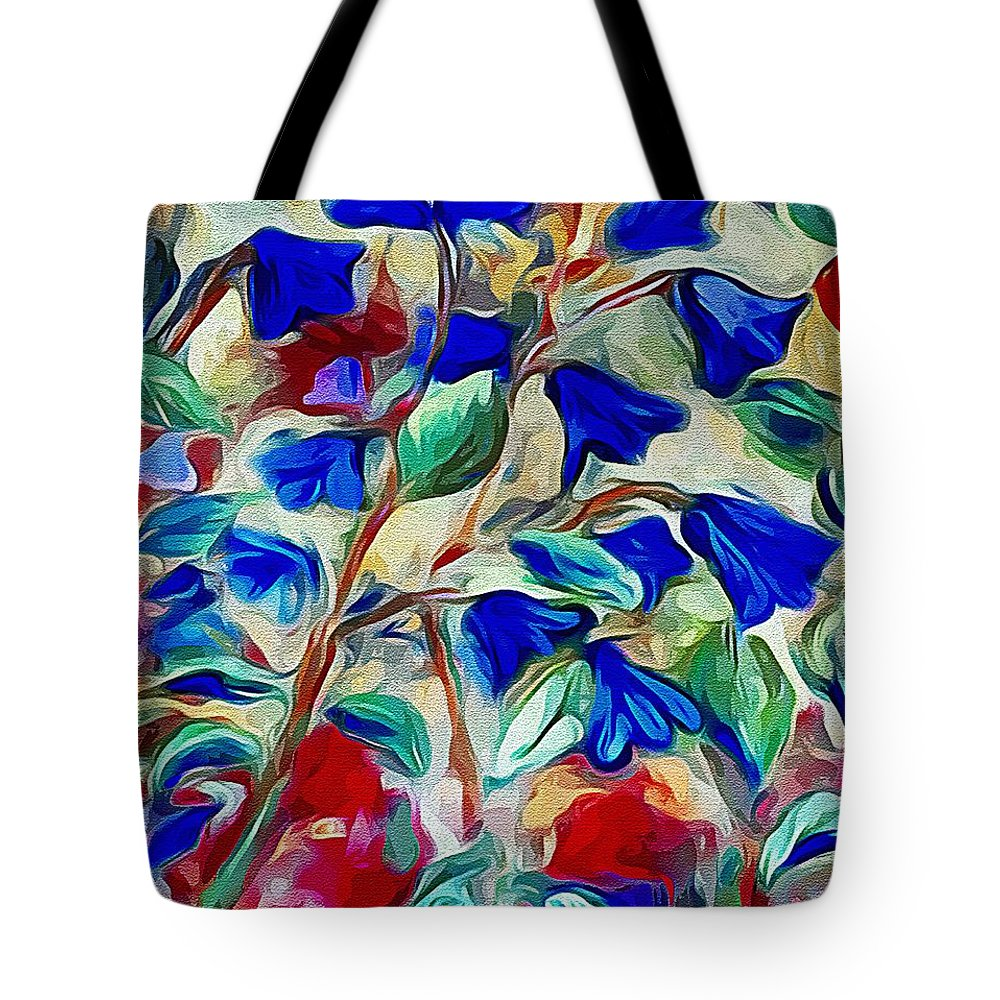 Bluebell Tote Bag featuring the painting Floral by Karen Harding