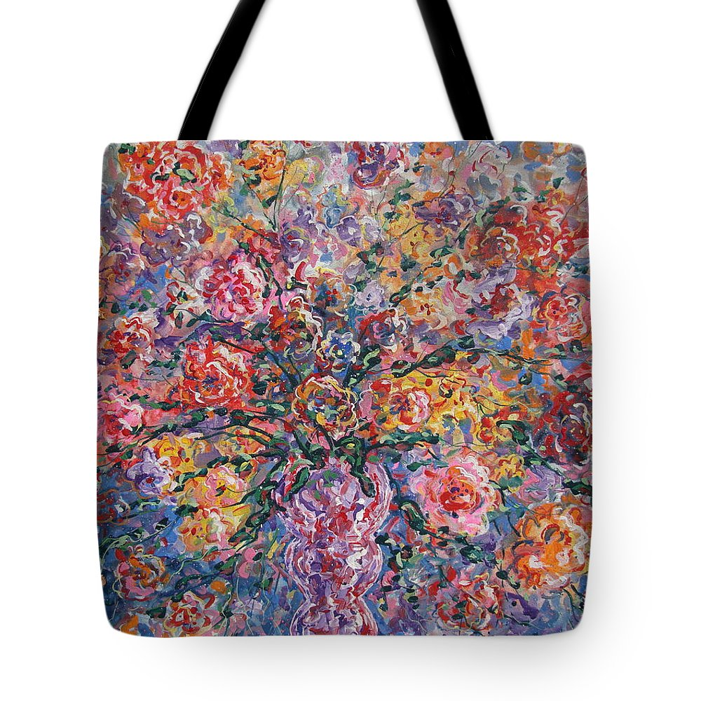 Painting Tote Bag featuring the painting Floral Melody by Leonard Holland