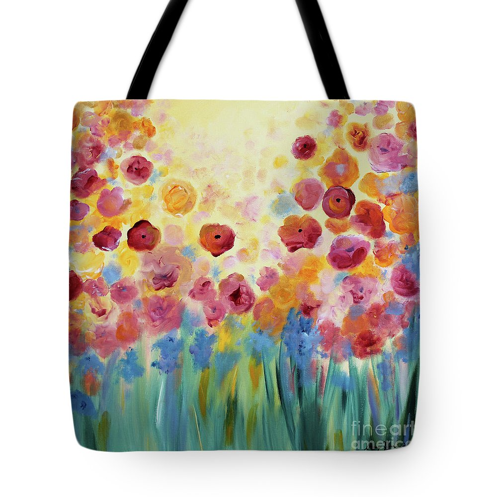 Flowers Tote Bag featuring the painting Floral Splendor II by Stacey Zimmerman