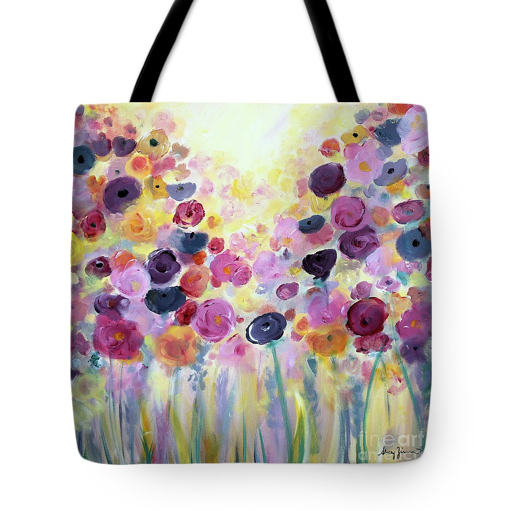 Floral Tote Bag featuring the painting Floral Splendor IIi by Stacey Zimmerman