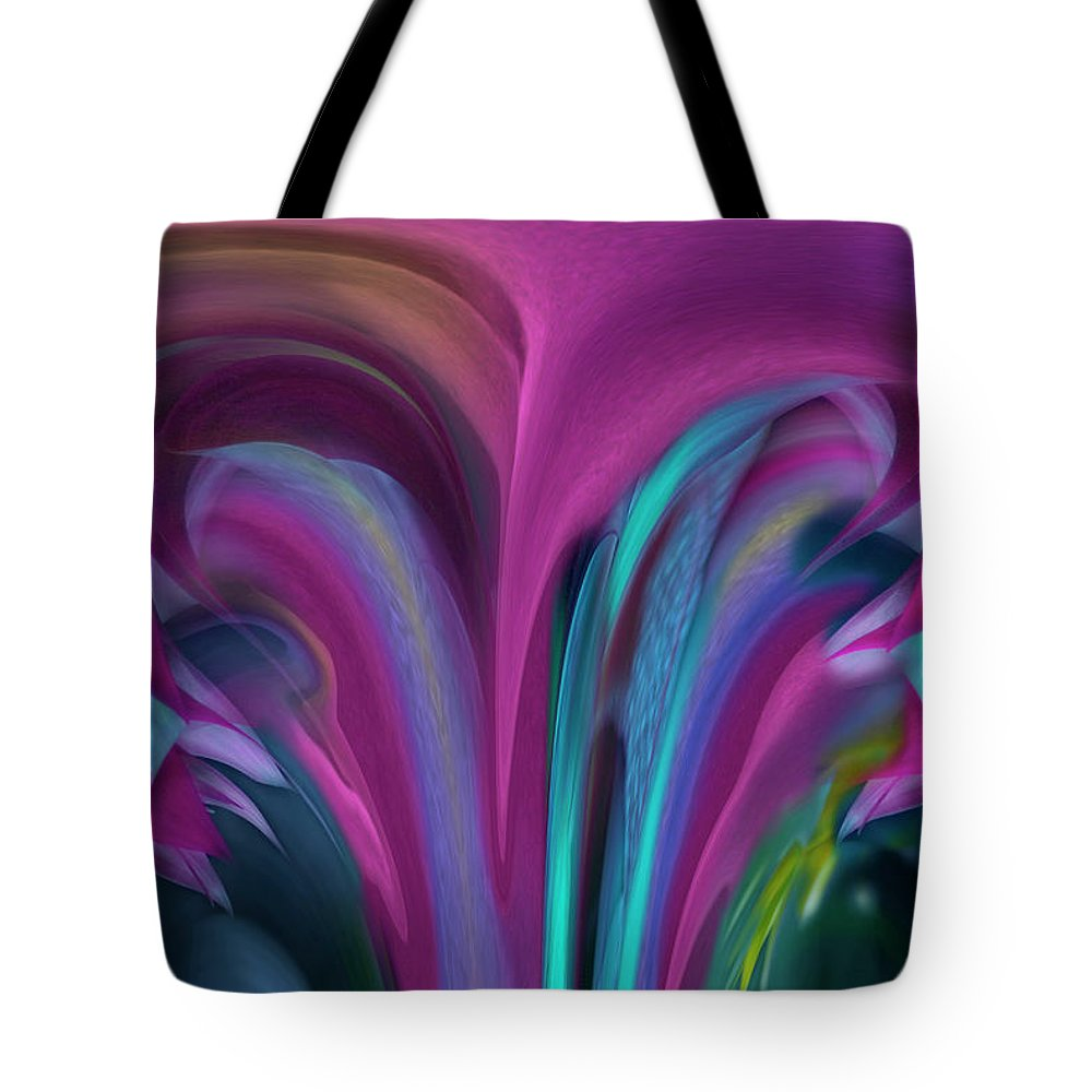 Abstract Tote Bag featuring the photograph Floral Stalagtites by Wayne King