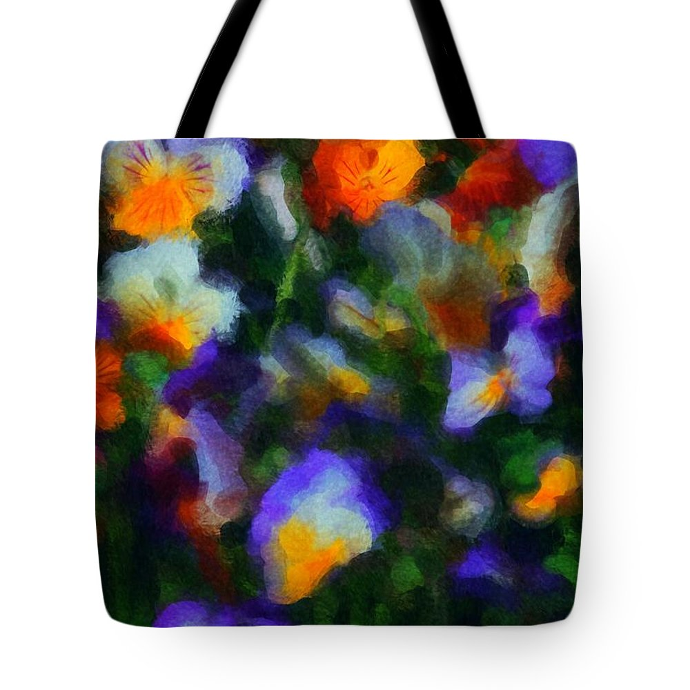 Digital Photography Tote Bag featuring the photograph Floral Study 053010a by David Lane