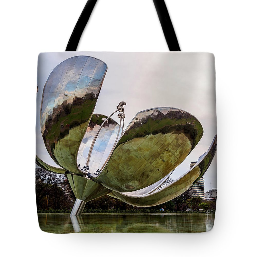 Argentina Tote Bag featuring the photograph Floralis Generica, Buenos Aires, Argentina by Karol Kozlowski