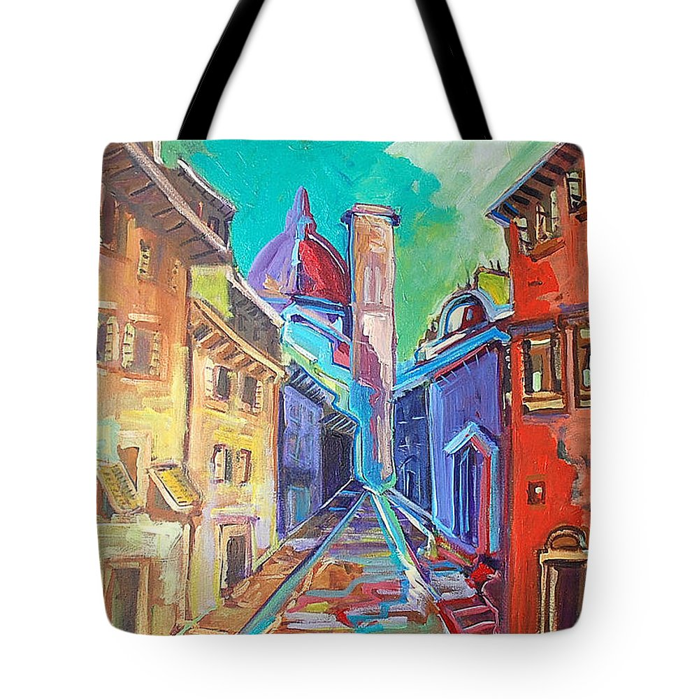 City Tote Bag featuring the painting Florence by Kurt Hausmann