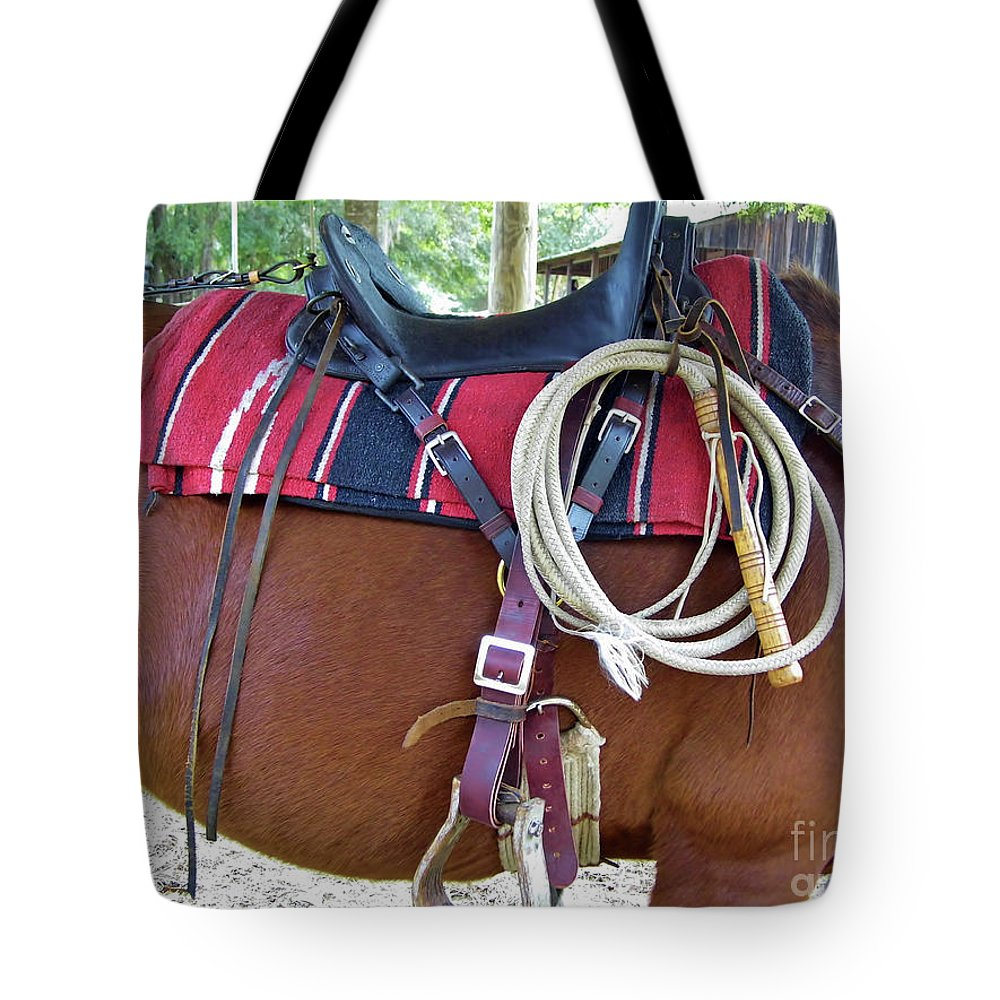 Whip Tote Bag featuring the photograph Florida Cracker Cow Whip by D Hackett