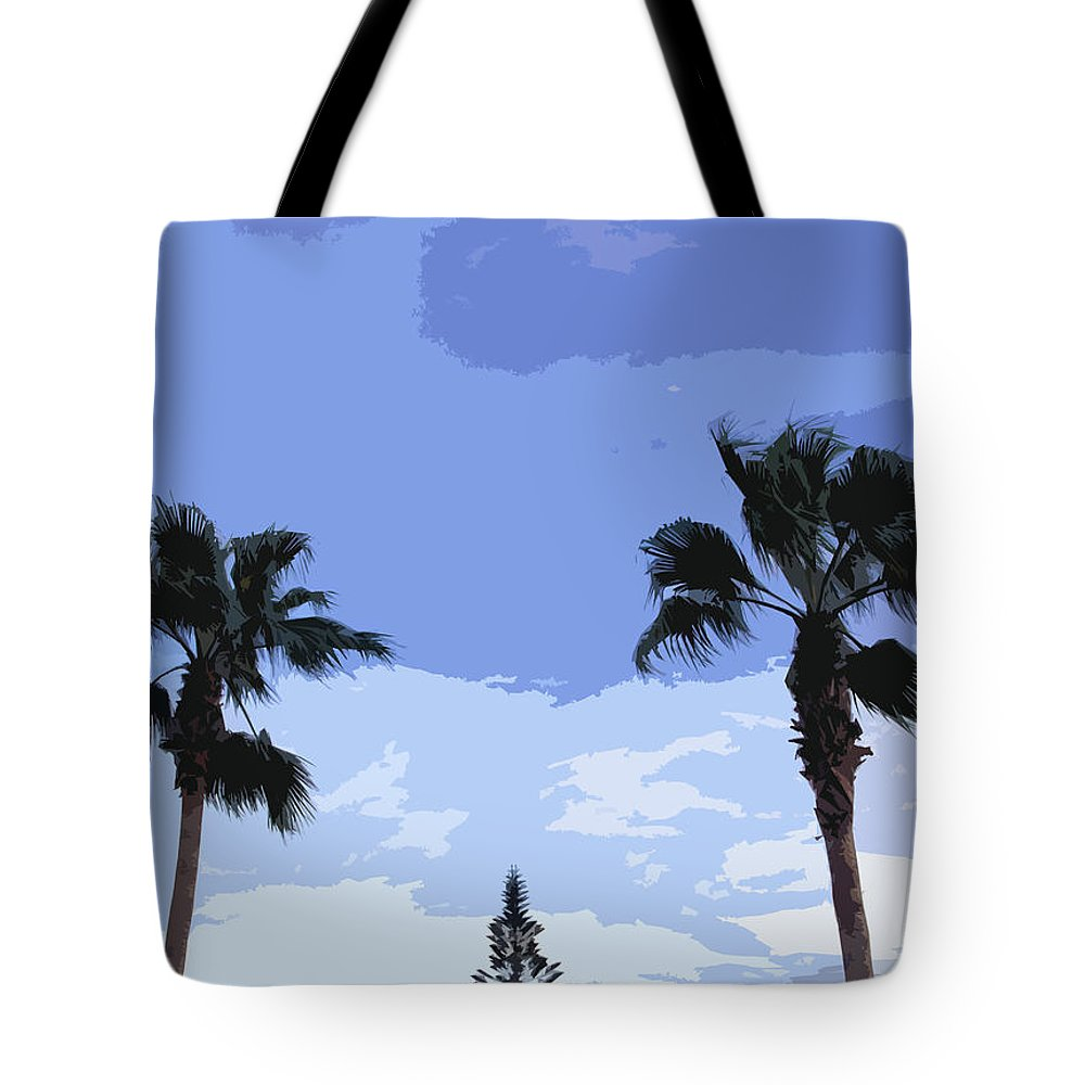 Florida Tote Bag featuring the photograph Florida Queen Palms  by Allan Hughes