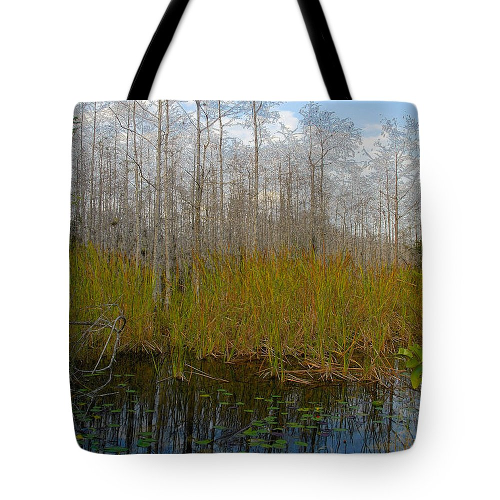 Florida Tote Bag featuring the painting Florida Wilderness by David Lee Thompson