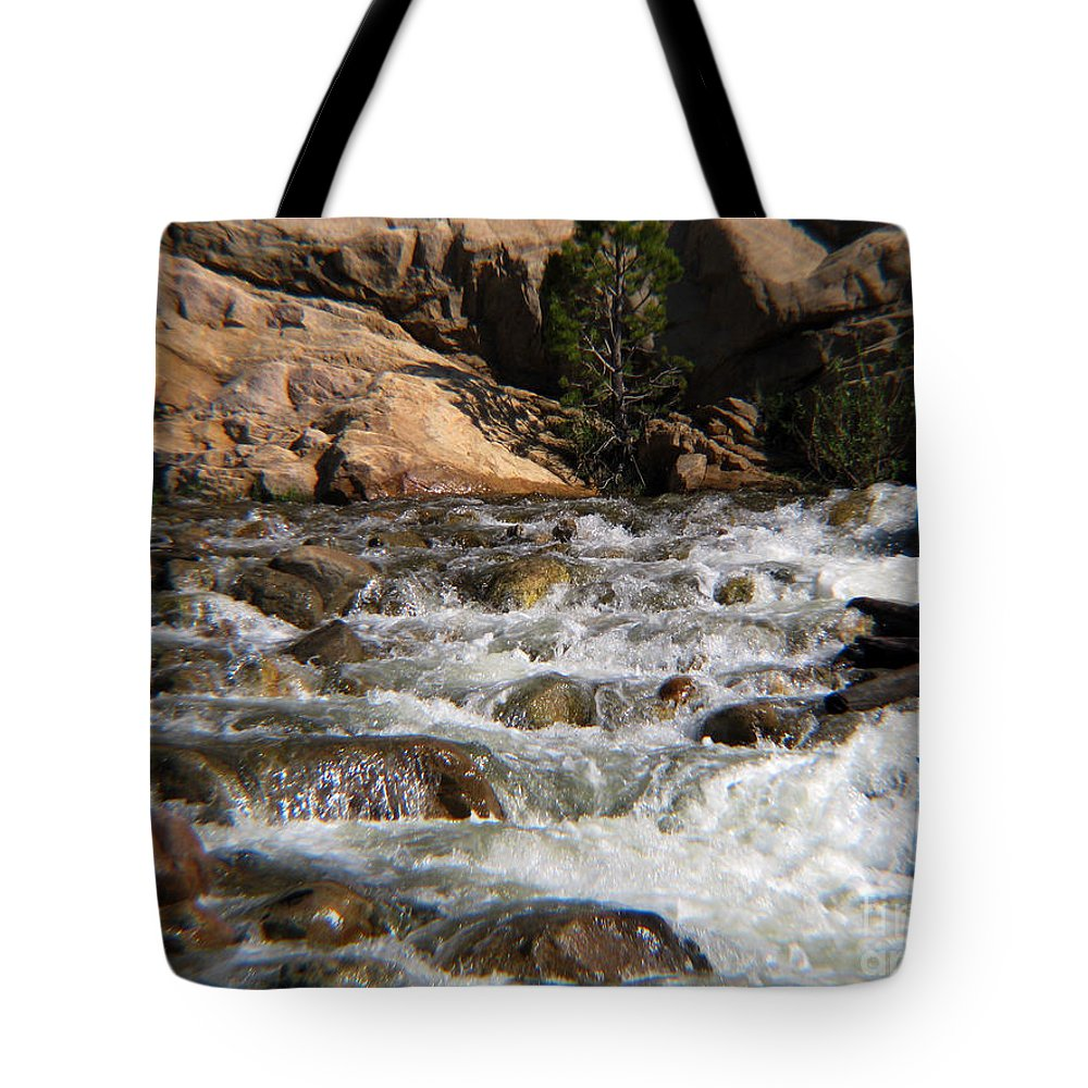 River Tote Bag featuring the photograph Flow by Amanda Barcon