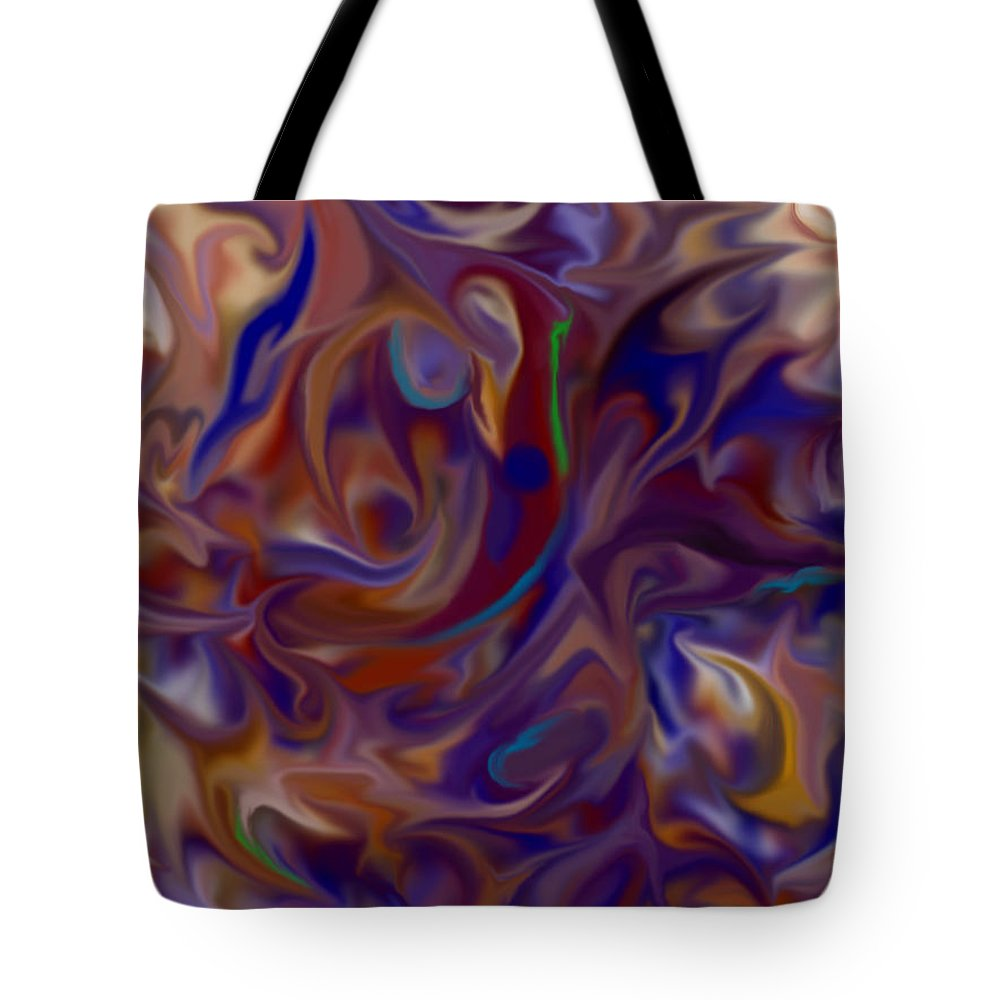 Digital Tote Bag featuring the digital art Flow In Chaos by Lelund Shaw