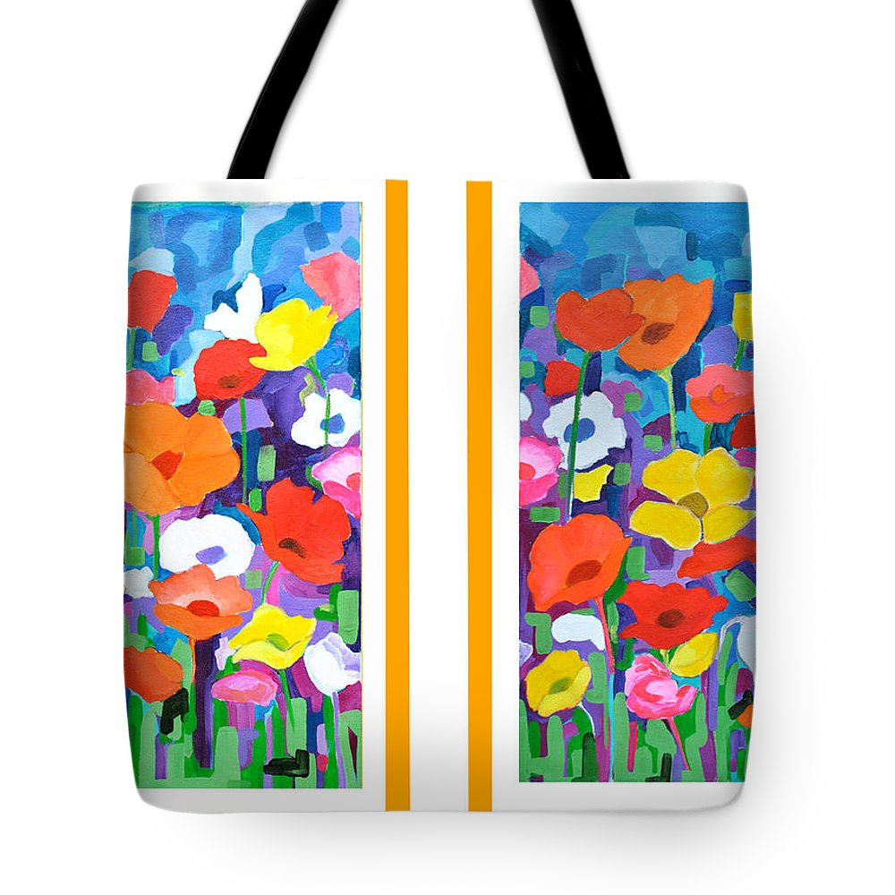Flower Panel Tote Bag featuring the painting Flower by Archana Kalra