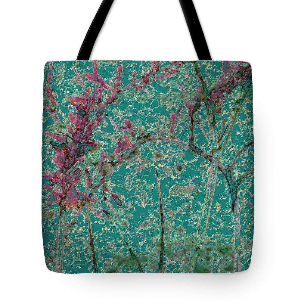 Abstract Tote Bag featuring the photograph Flower Arches by Lenore Senior
