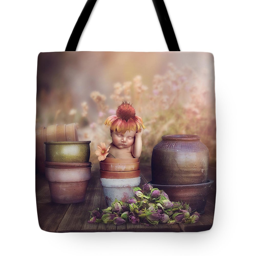 Flowers Tote Bag featuring the photograph Flower Baby by Cindy Grundsten