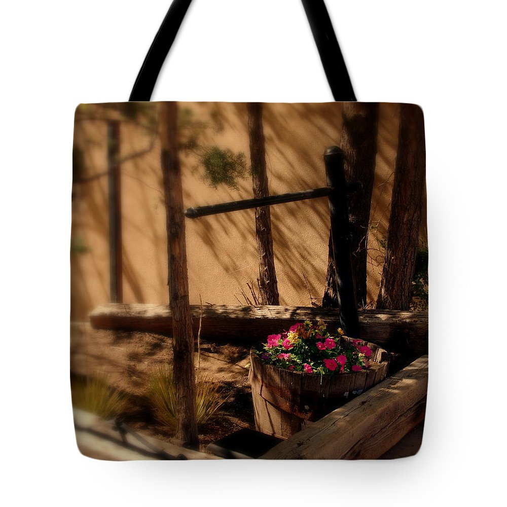 Flower Basket Tote Bag featuring the photograph Flower Basket by Susanne Van Hulst