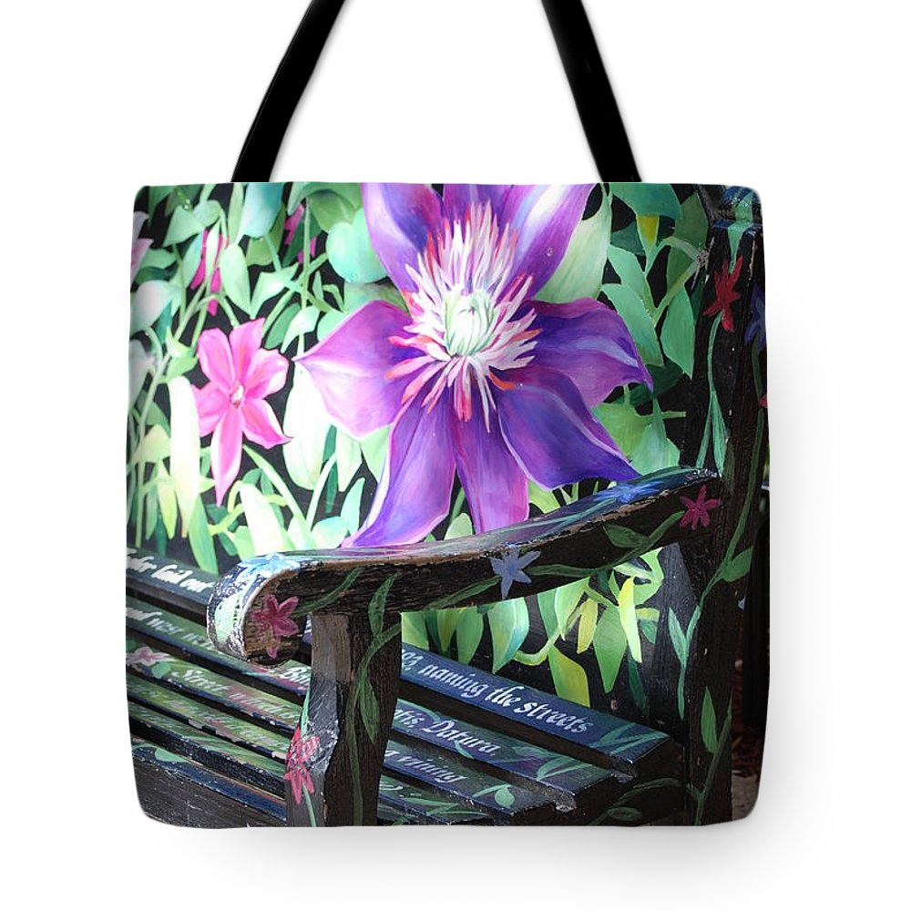 Macro Tote Bag featuring the photograph Flower Bench by Rob Hans