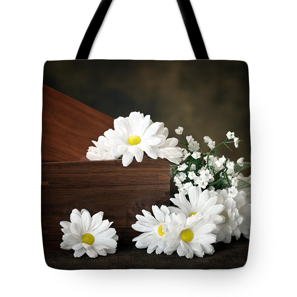 Flowers Tote Bag featuring the photograph Flower Box by Tom Mc Nemar