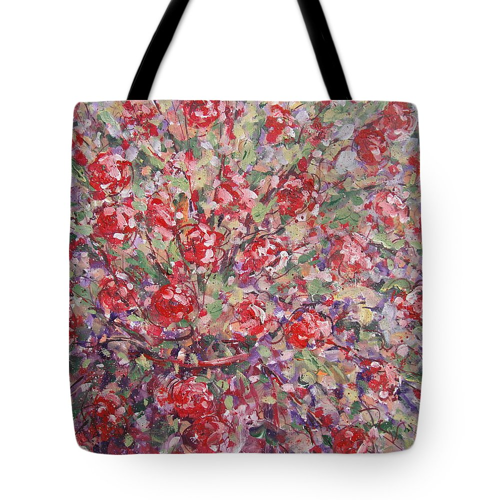 Painting Tote Bag featuring the painting Flower Feelings. by Leonard Holland