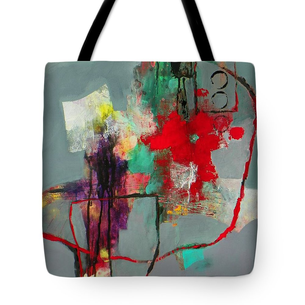 Abstract Expressionism Tote Bag featuring the painting Flower Garden by Donna Frost