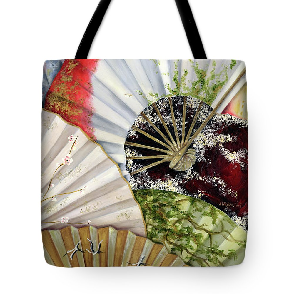 Japanese Tote Bag featuring the painting Flower Garden by Hiroko Sakai