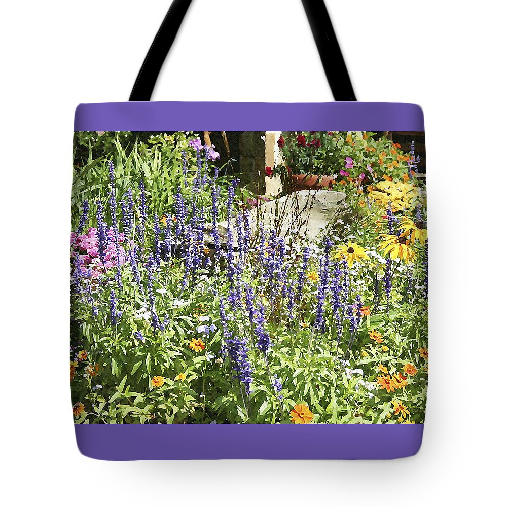 Flower Tote Bag featuring the photograph Flower Garden by Margie Wildblood