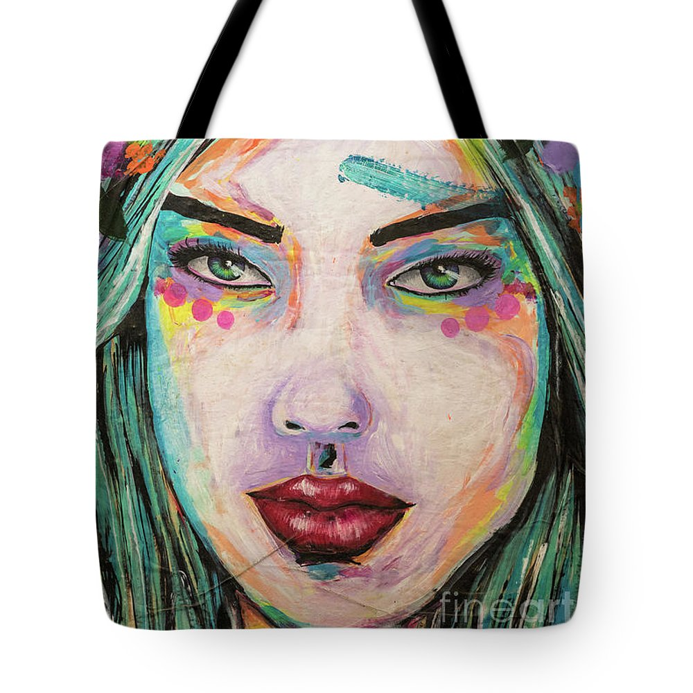 Anatomy Tote Bag featuring the photograph Flower Girl by Howard Ferrier