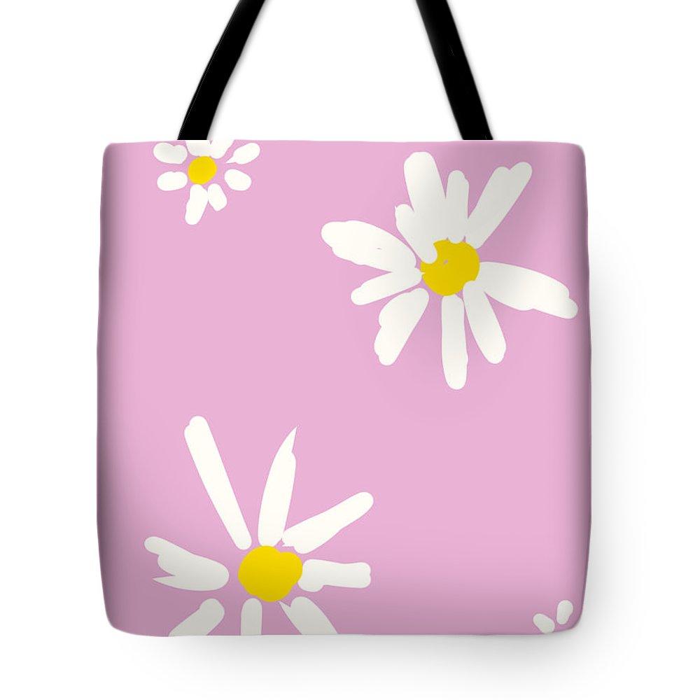 #flower Handle Tote Bag featuring the digital art Flower handle by Sari Kurazusi