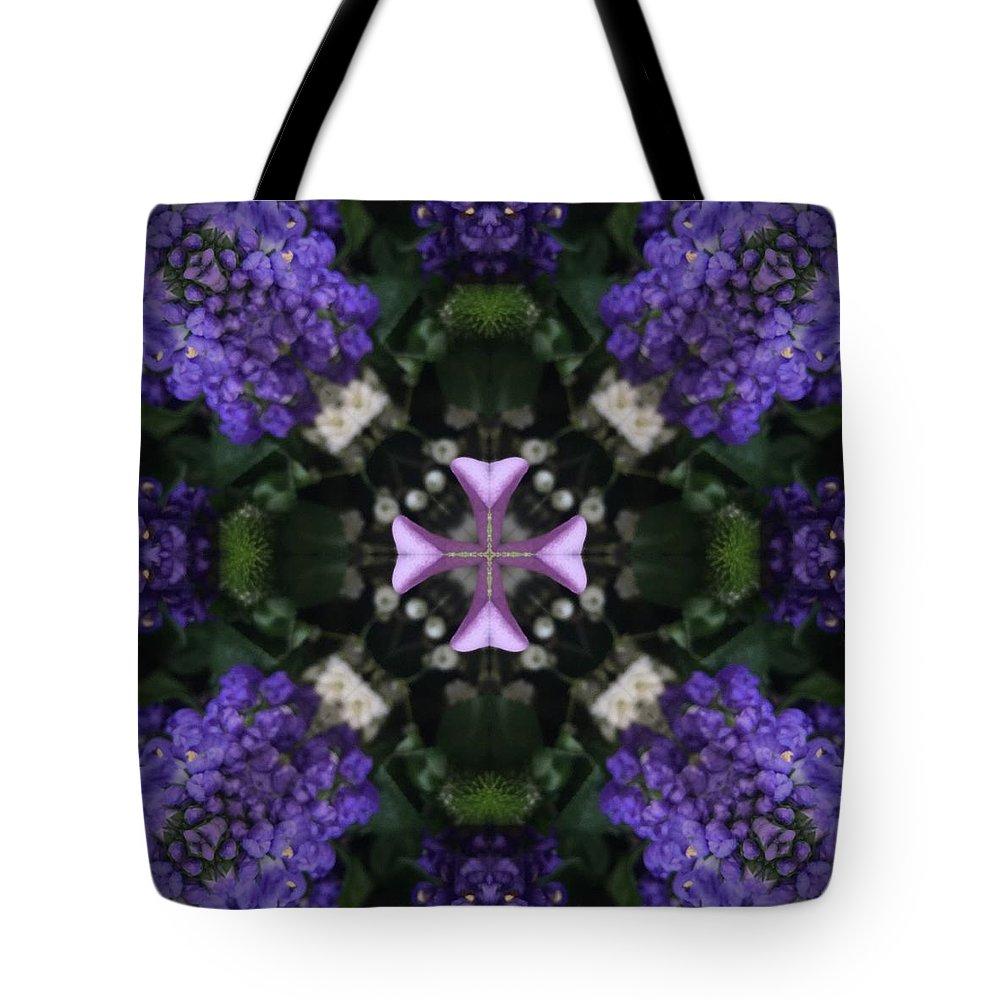 Art Tote Bag featuring the digital art Flower Kaleidoscope_004 by Rene Wissink
