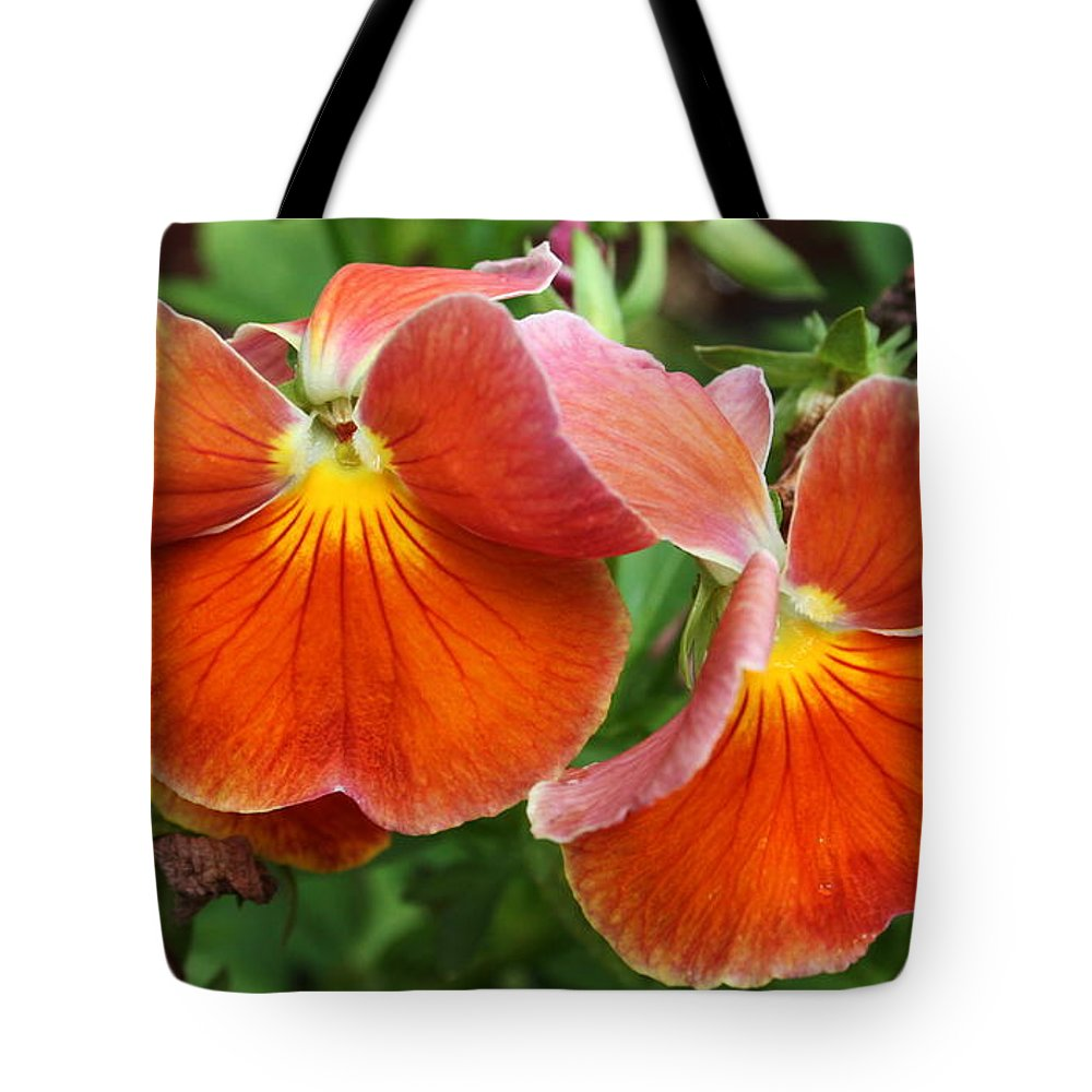 Flowers Tote Bag featuring the photograph Flower Lips by Linda Sannuti