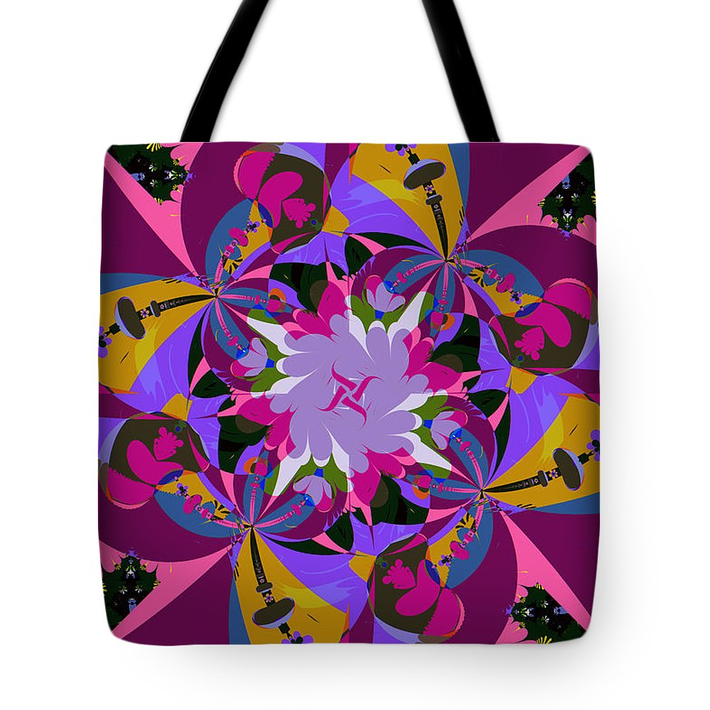 Jim Pavelle Tote Bag featuring the digital art Flower Mont by Jim Pavelle