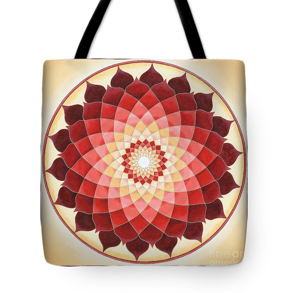 Mandala Tote Bag featuring the painting Flower Of Life by Charlotte Backman