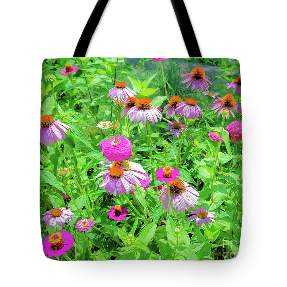 Garden Tote Bag featuring the photograph Flower Patch by Kathleen K Parker