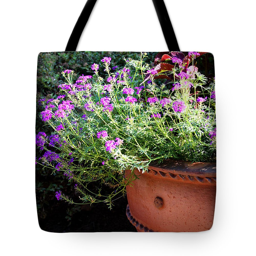 Flower Tote Bag featuring the photograph Flower Pot by Tina Meador