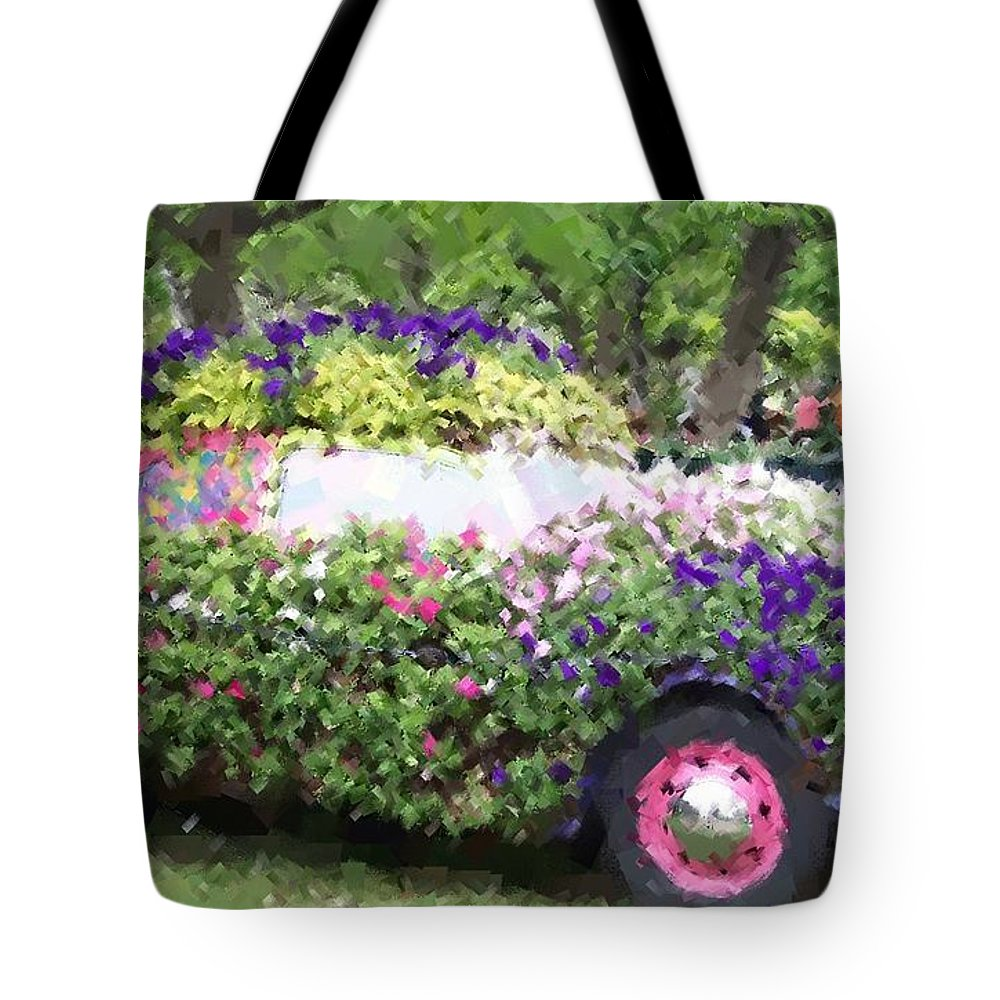Cars Tote Bag featuring the photograph Flower Power by Debbi Granruth