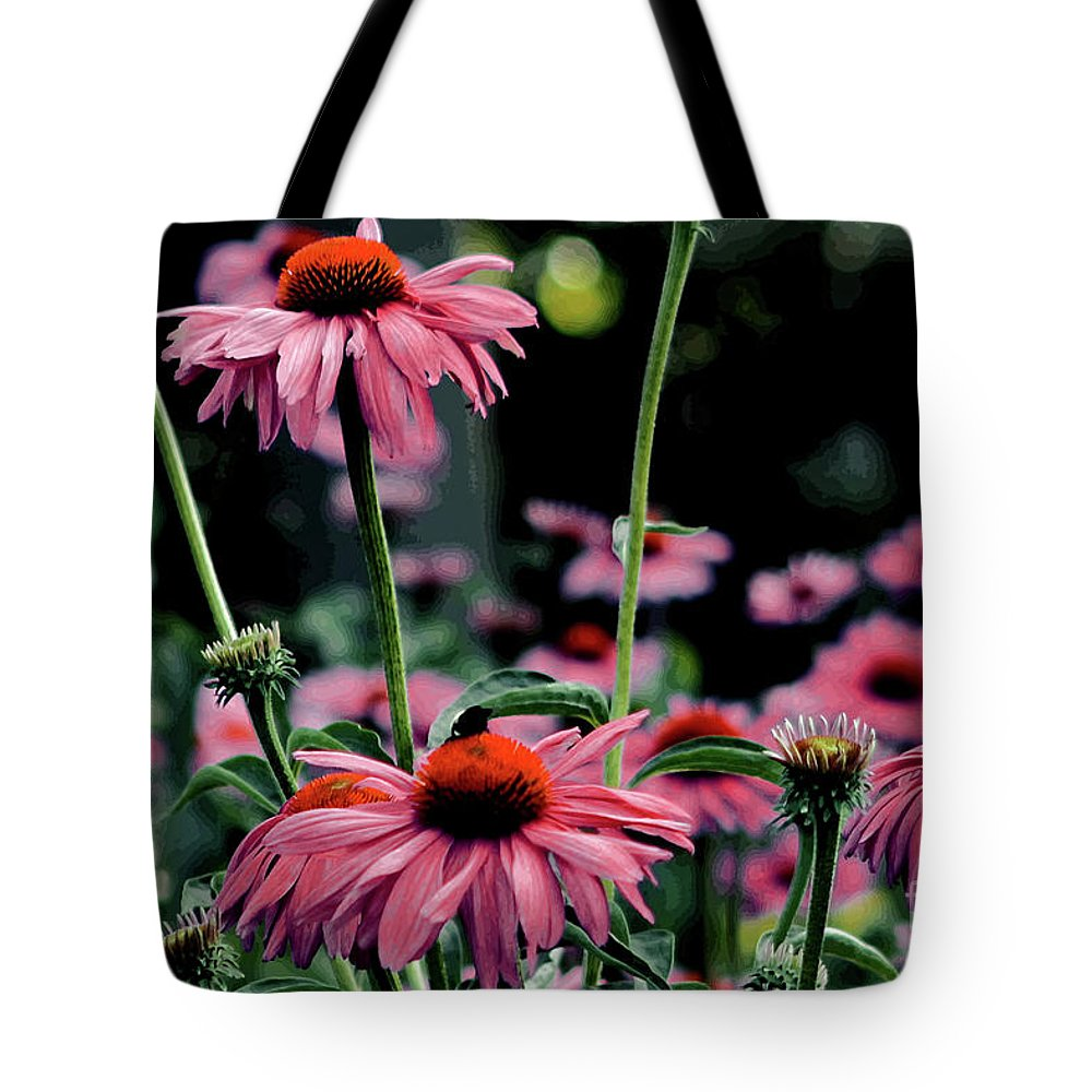 Floral Photograph Tote Bag featuring the photograph Flower Power by Tom Prendergast