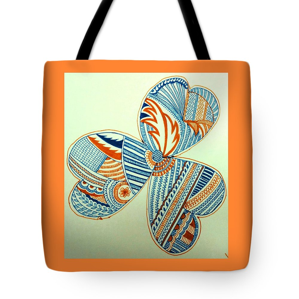 Tote Bag featuring the drawing Flower by Richa Ahuja