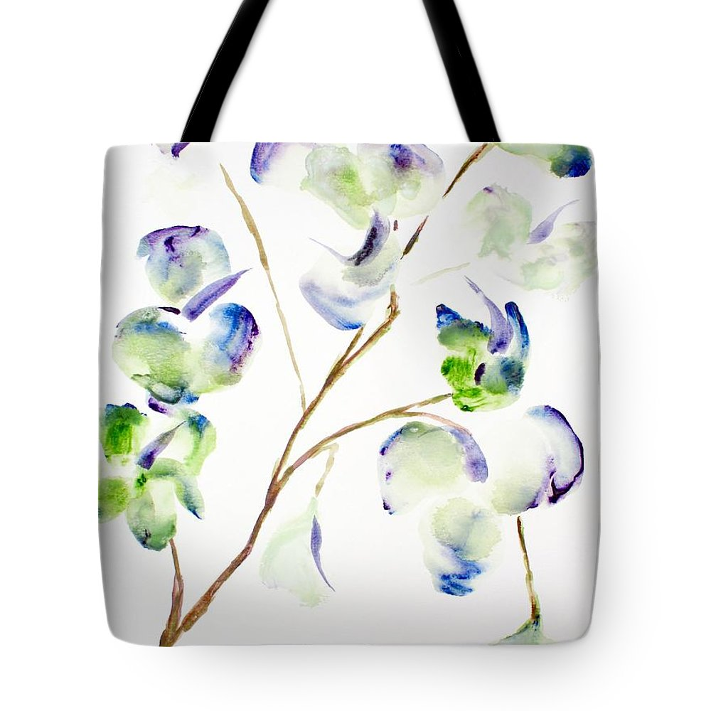 Flower Tote Bag featuring the painting Flower by Shelley Jones