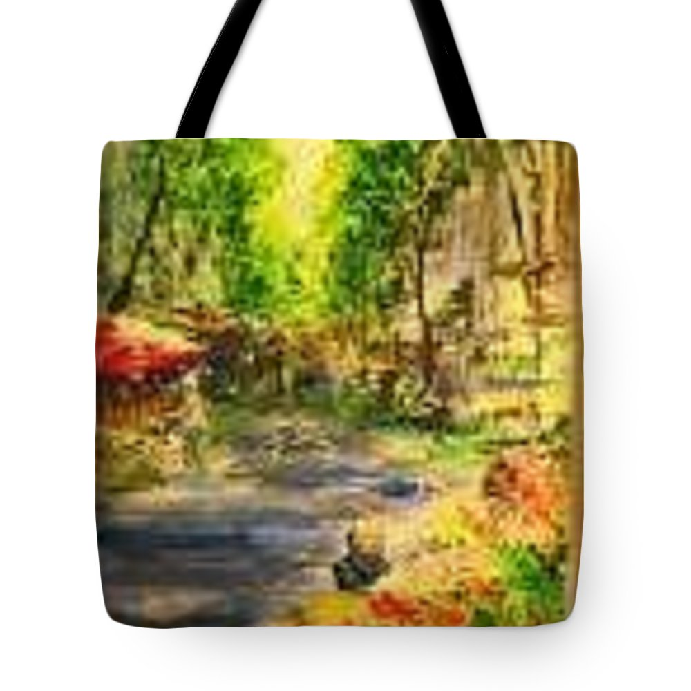 Ramblas Tote Bag featuring the painting Flower Stands In The Ramblas Barcelona by Lizzy Forrester