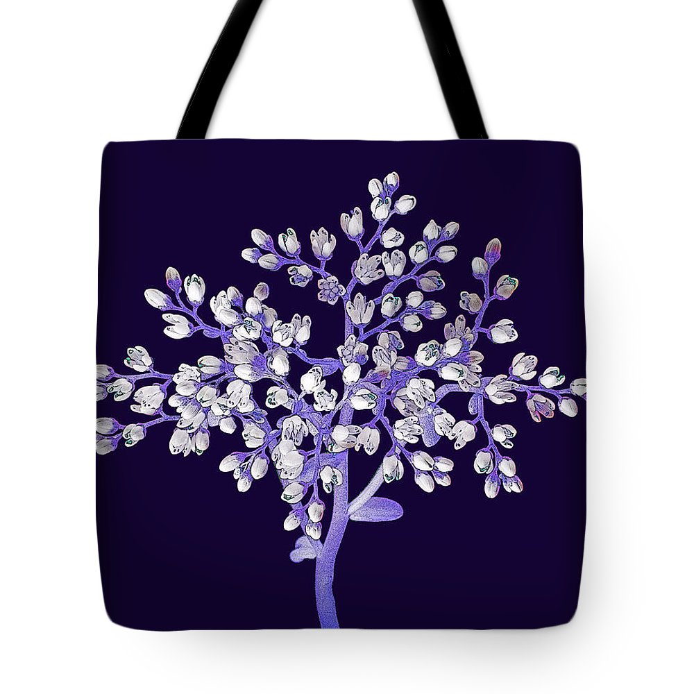 Flower Tote Bag featuring the photograph Flower Tree by Digital Crafts