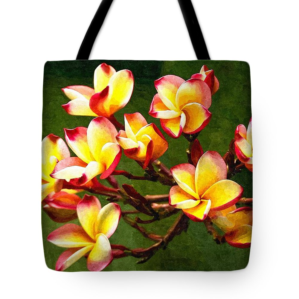 Branch Tote Bag featuring the digital art Flowerage by Max Steinwald
