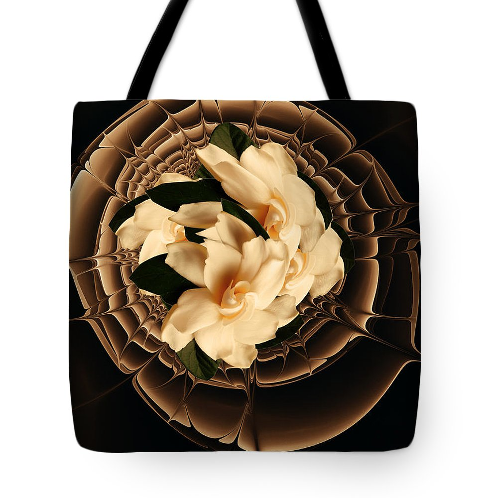 Flower Tote Bag featuring the mixed media Flowers And Chocolate by Georgiana Romanovna