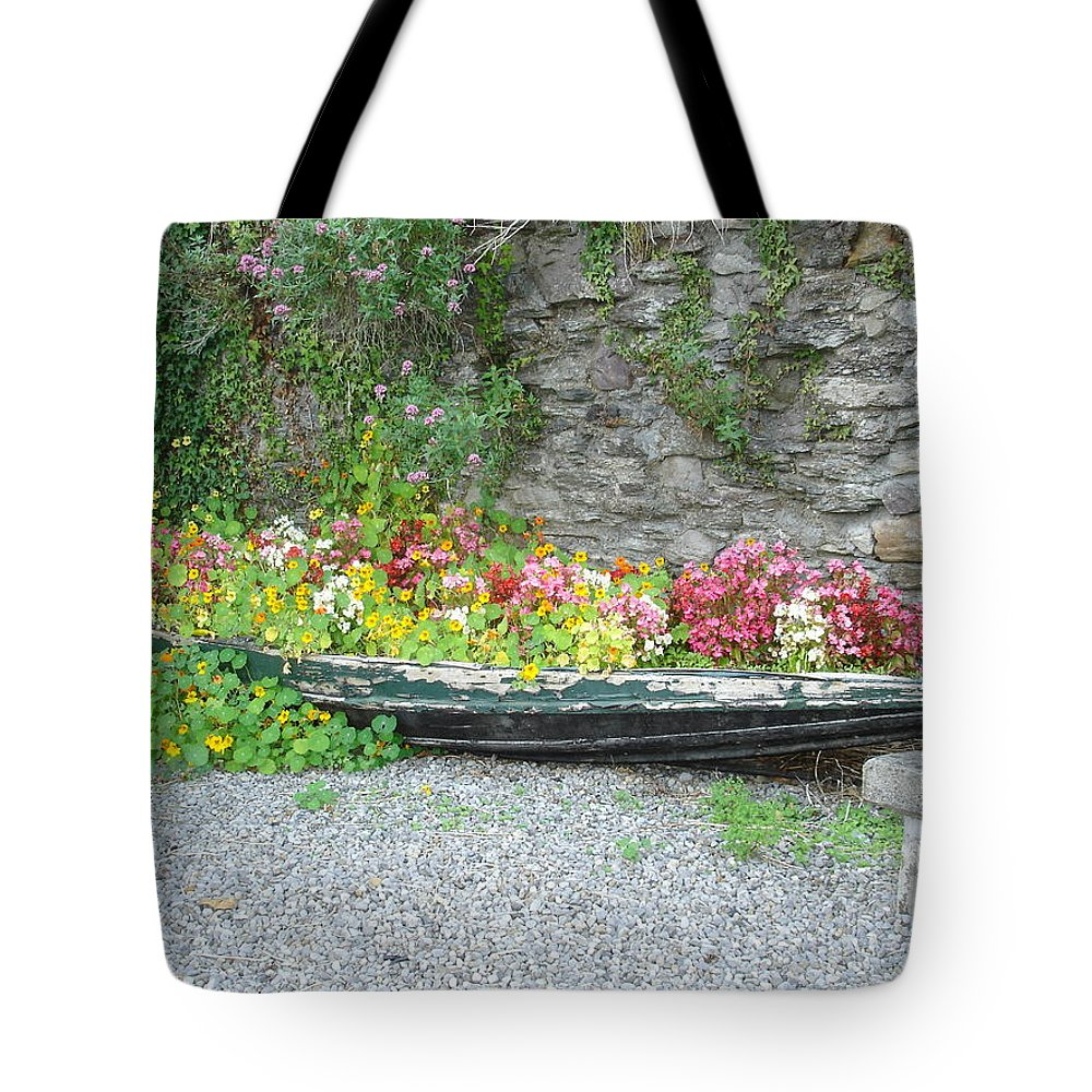 Inistioge Tote Bag featuring the photograph Flowers Floating by Kelly Mezzapelle