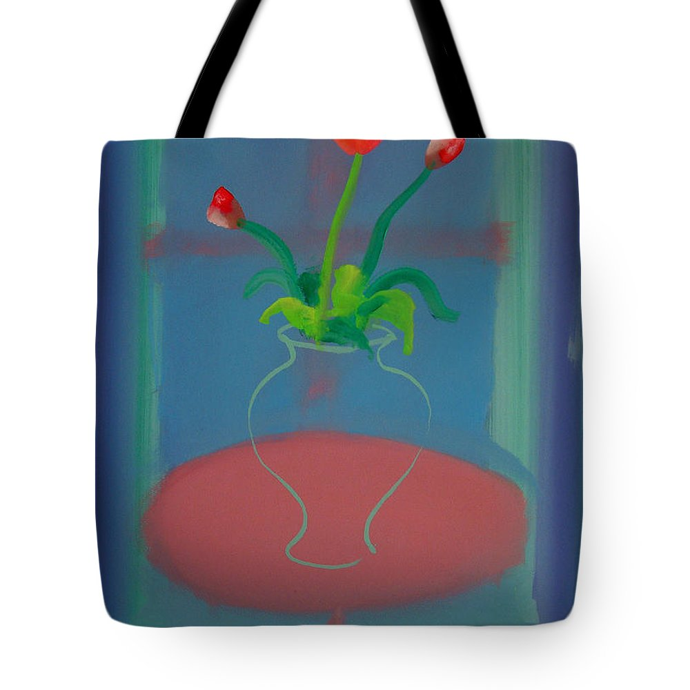 Dufy Tote Bag featuring the painting Flowers In A Bay Window by Charles Stuart