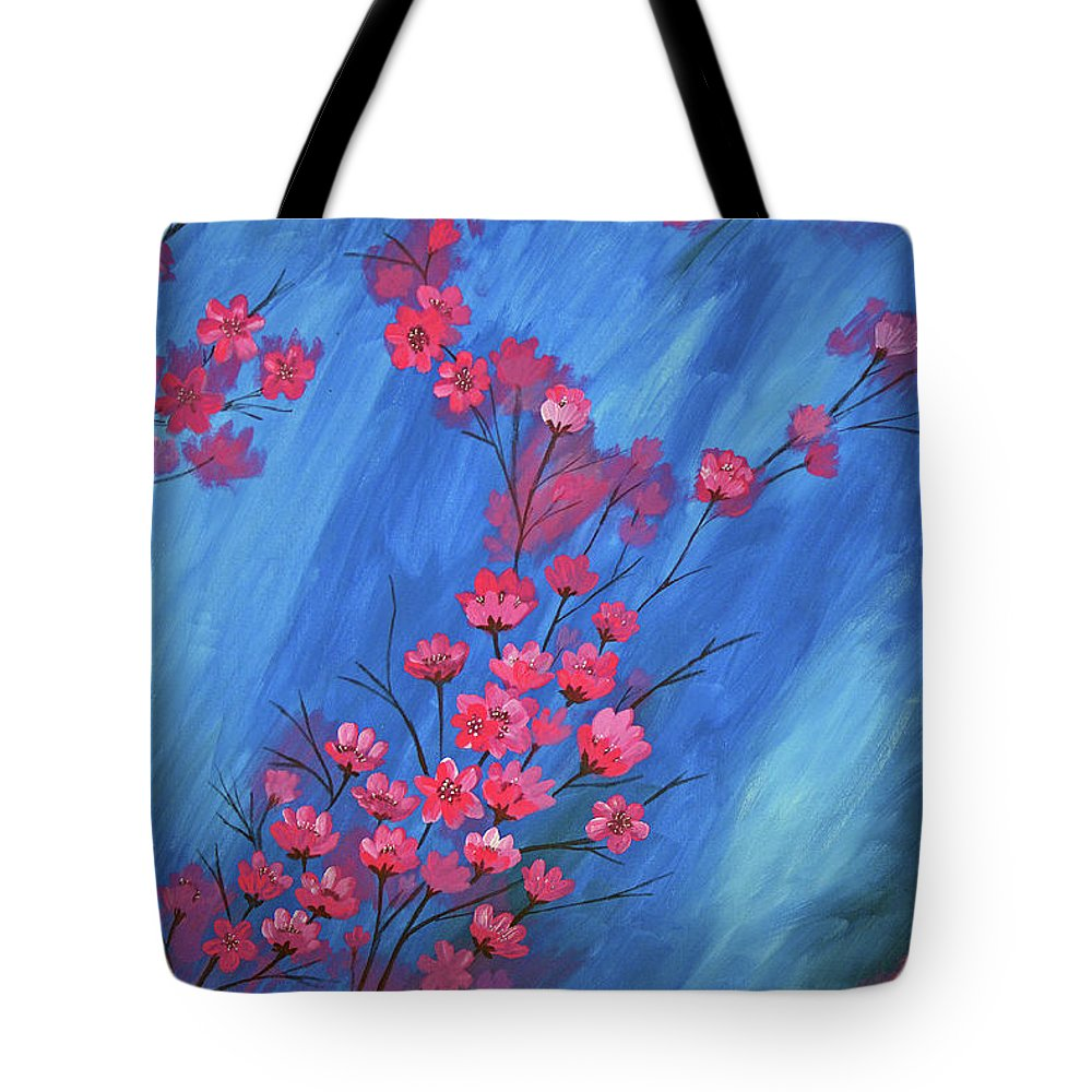 Flowers Tote Bag featuring the painting Flowers by Laxmi Khire