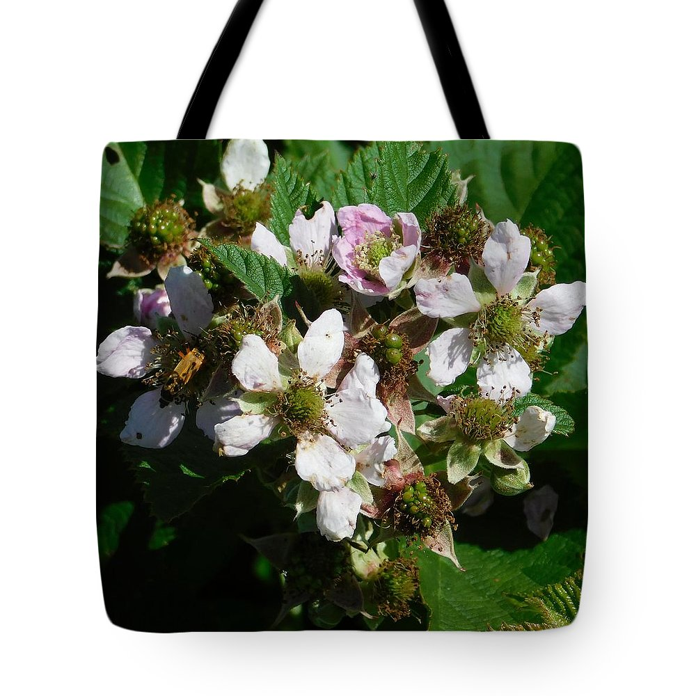 Flowers Tote Bag featuring the photograph Flowers Of Berries by Gregory Farmer