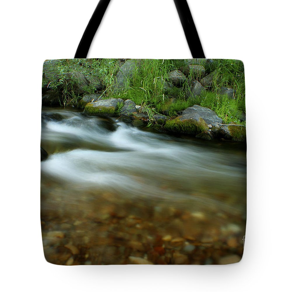 River Tote Bag featuring the photograph Flowing by Idaho Scenic Images Linda Lantzy