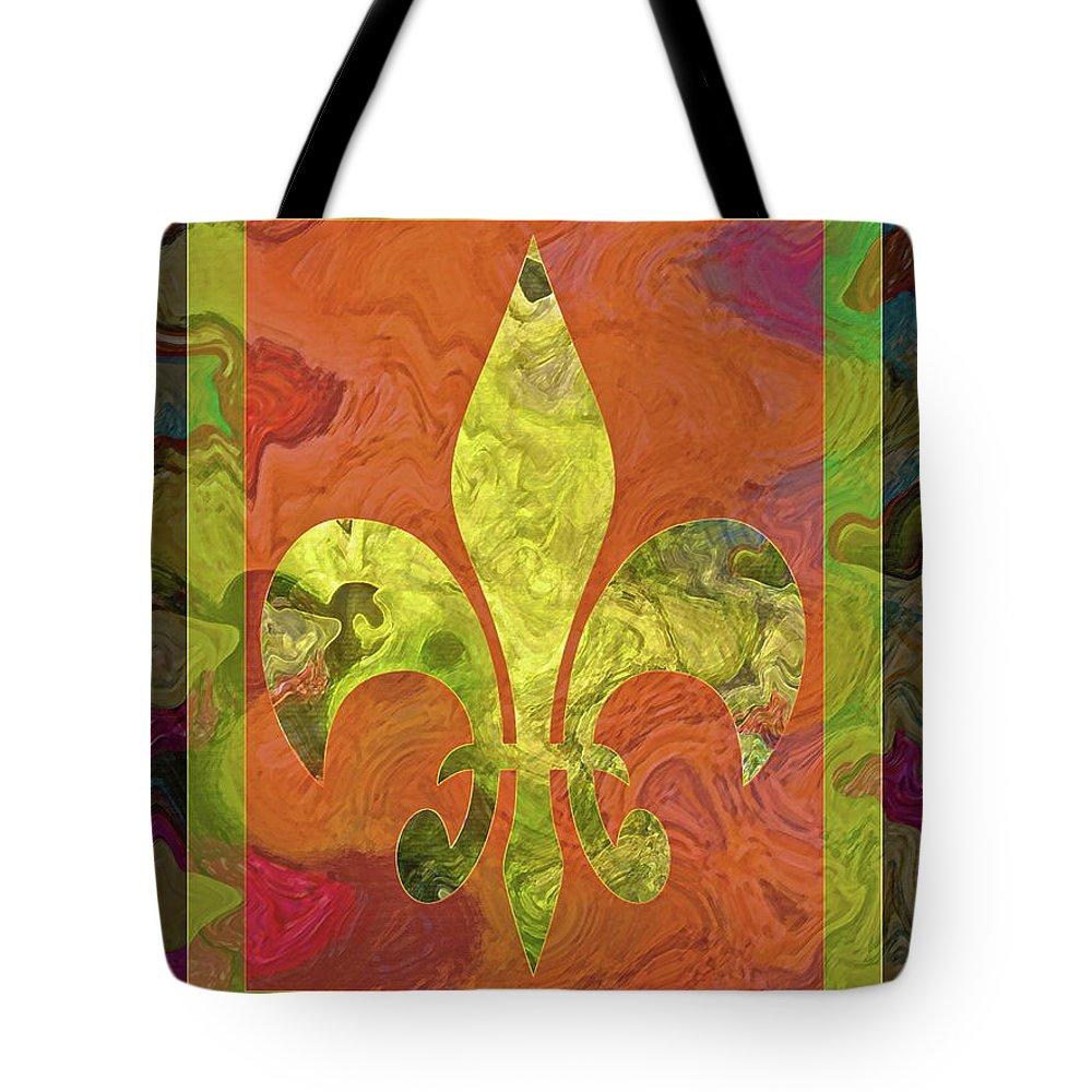 Fluer Tote Bag featuring the digital art Fluer De Lis by Gwyn Newcombe