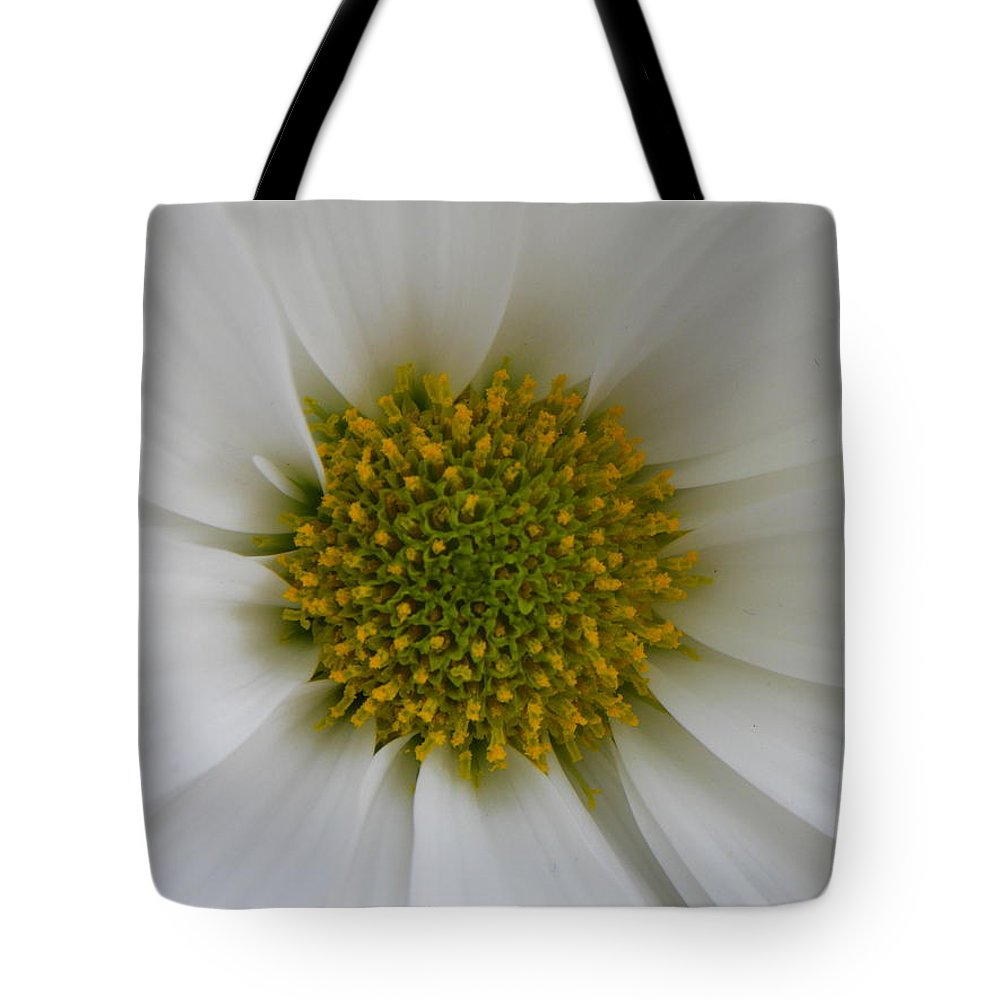 Nature Tote Bag featuring the photograph Core Of A Daisy by Shannon Turek