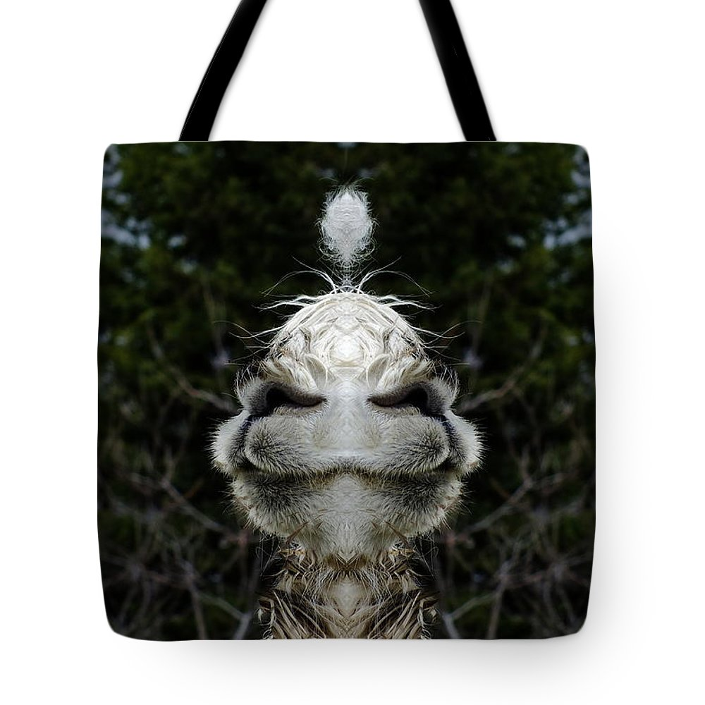 Digital Art Tote Bag featuring the photograph Fluff Face by Andy Klamar