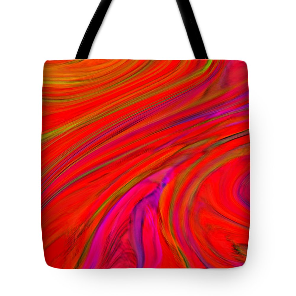 Modern Tote Bag featuring the digital art Fluidity by ME Kozdron