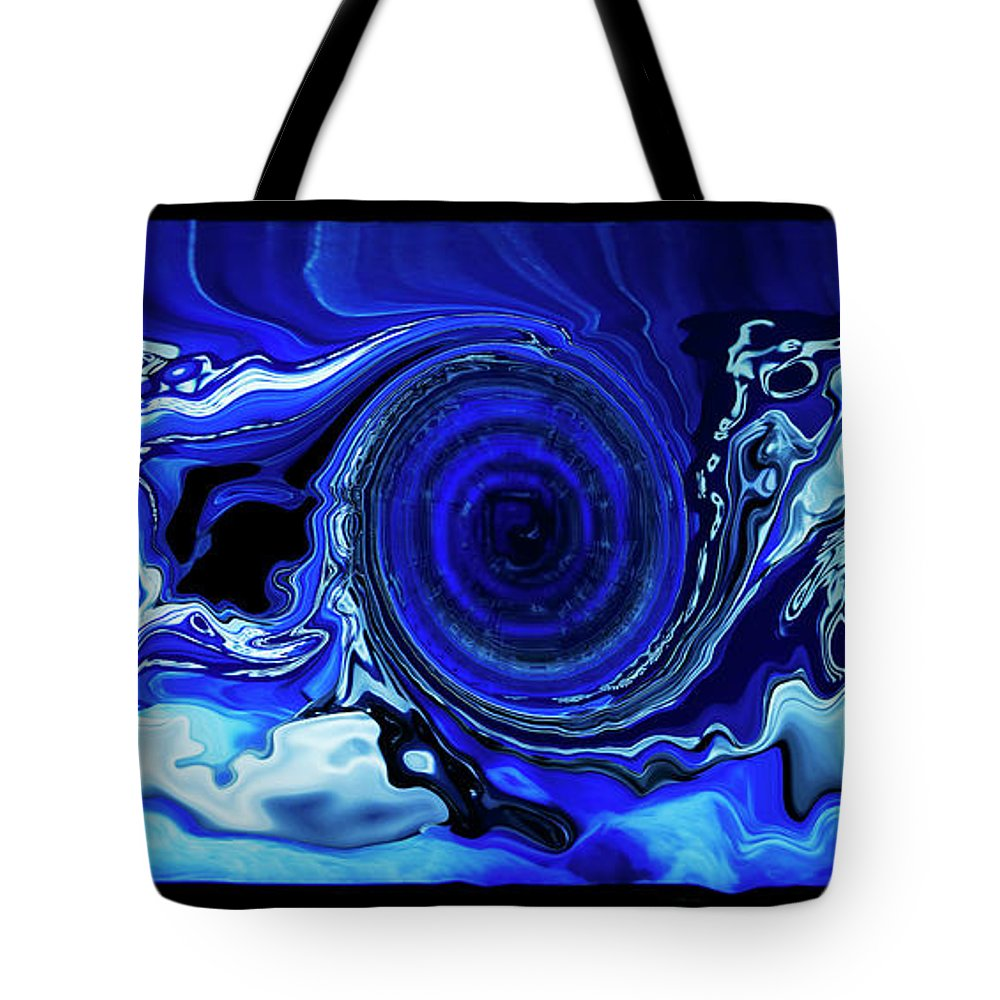 Modern Tote Bag featuring the digital art Fluidity by Ralf Nau