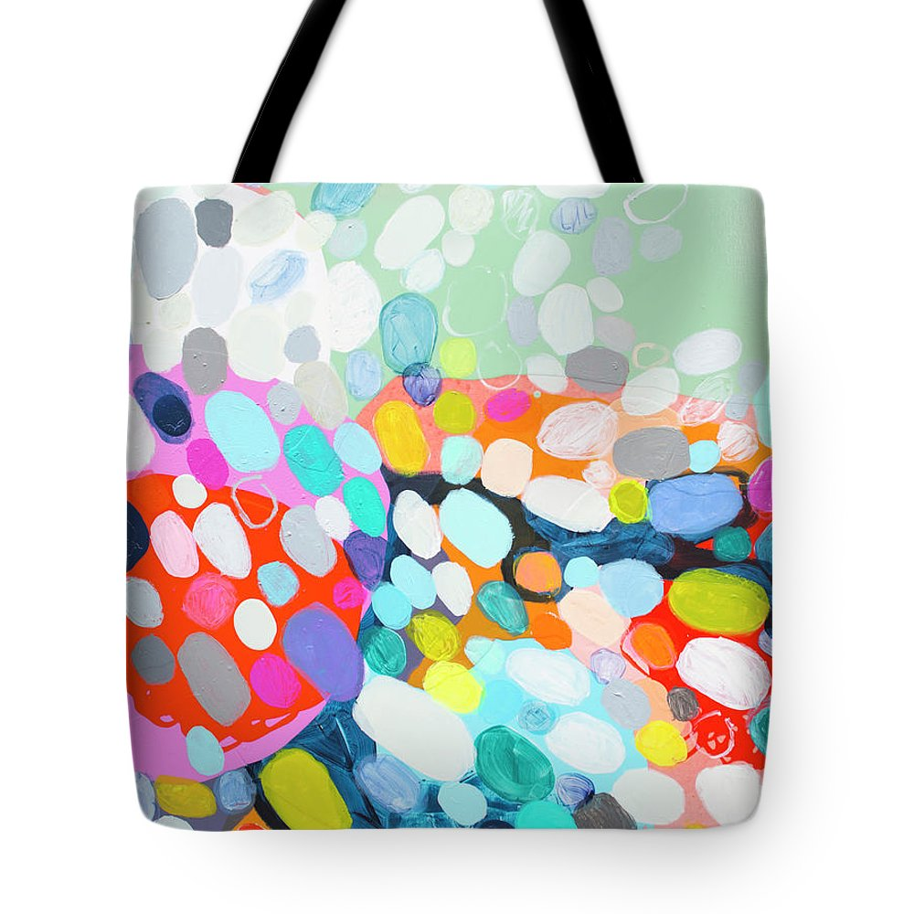 Abstract Tote Bag featuring the painting Flushed by Claire Desjardins